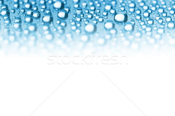 Abstract grens Blauw waterdruppels zachte focus Stockfoto © Taiga