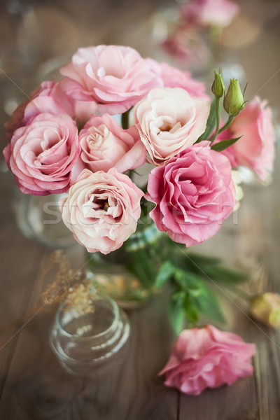Romantic still life with roses in vase Stock photo © Taiga