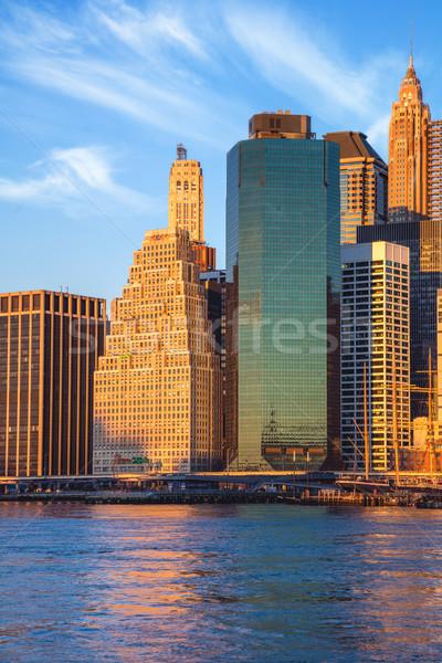 オフィスビル マンハッタン 午前 ニューヨーク市 有名な ランドマーク ストックフォト © Taiga