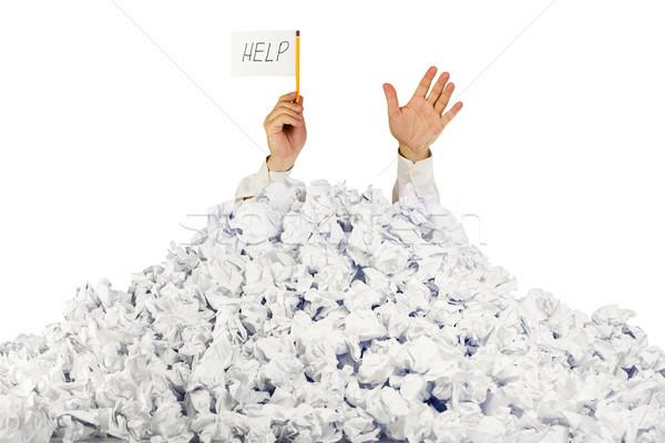 Foto stock: Pessoa · documentos · mão · ajudar