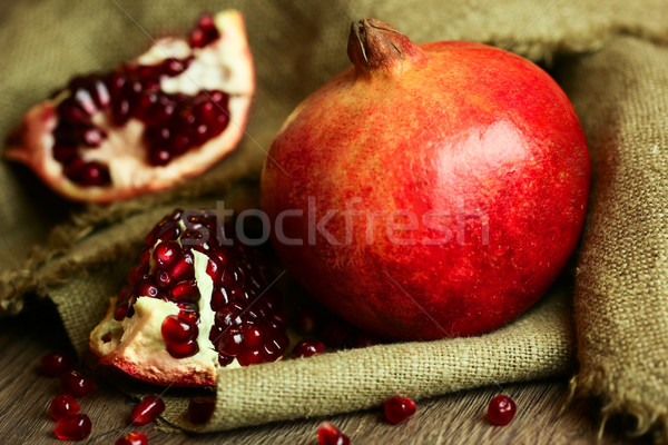 Ripe pomegranate with red seeds  Stock photo © Taiga