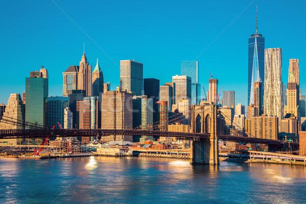 Skyline of downtown New York at the morning light , New York Cit Stock photo © Taiga