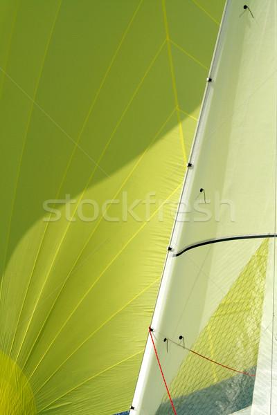 Fragment of a sail / a sailing background Stock photo © Taiga