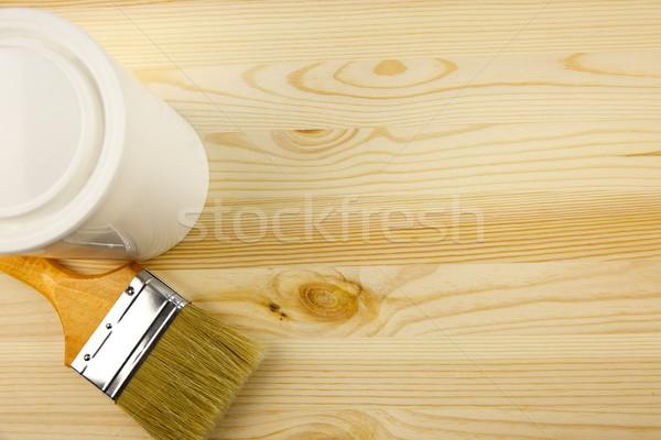 Houtstructuur tin penseel vernis gebouw achtergrond Stockfoto © Taiga