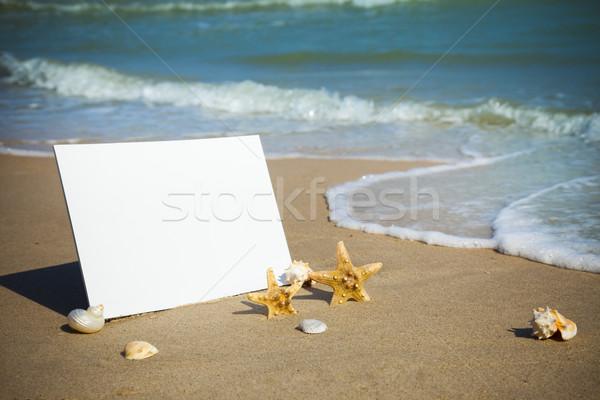 Summer / Blank Beach Paper on the sea  Stock photo © Taiga