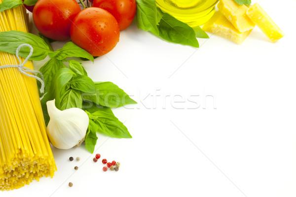 Italienisch kochen rahmen wei essen hintergrund for Kochen italienisch