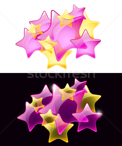 Vector Stars with transparency / easy use on white or black back Stock photo © Taiga