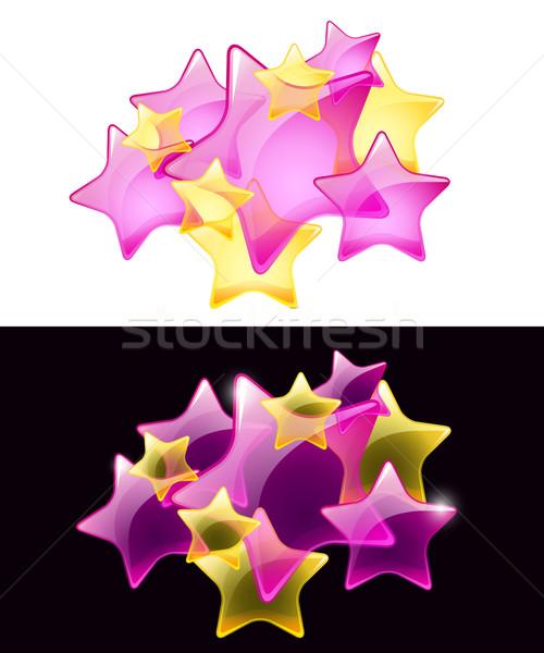 Vector sterren doorzichtigheid gemakkelijk witte zwarte Stockfoto © Taiga