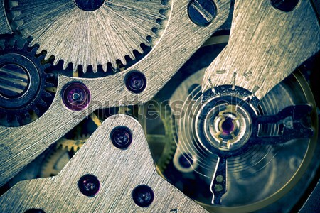 Macro Mechanical Gear  / Clockwork Background  Stock photo © Taiga