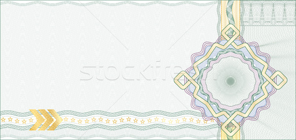 Secured Guilloche Background for Gift Certificate, Coupon or Ban Stock photo © Taiga
