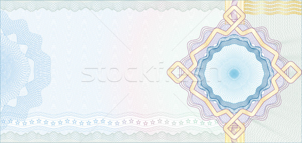 Secured Guilloche Background for Voucher, Gift Certificate, Coup Stock photo © Taiga