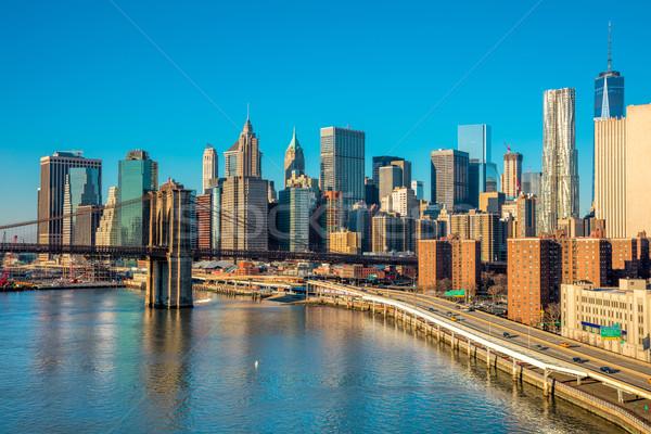 Horizonte centro de la ciudad Nueva York Manhattan Nueva York manana Foto stock © Taiga
