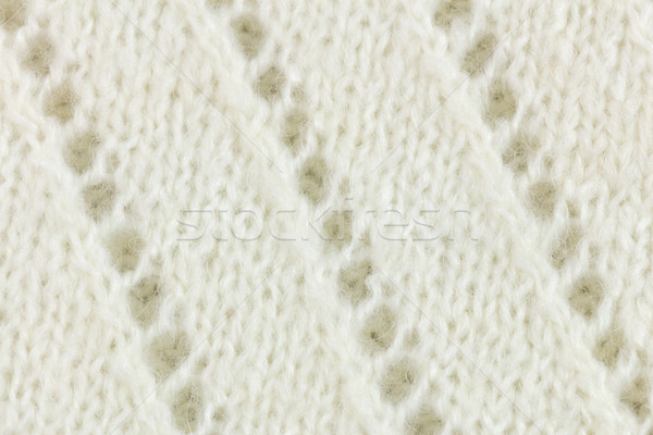 White wool knitted fabric texture background Stock photo © Taiga