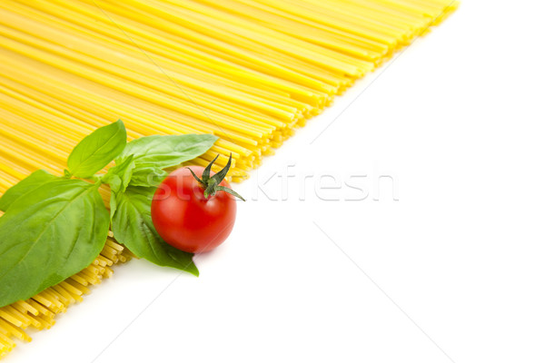 Stock photo: Ingredients for Italian cooking / frame composition / isolated o