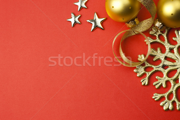 background with snowflake, stars and baubles \ Stock photo © Taiga