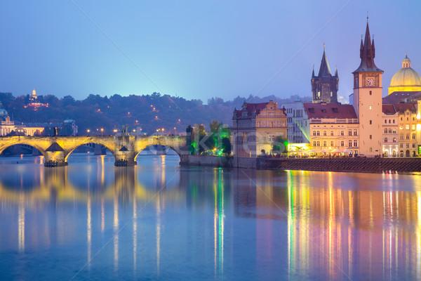 Famous Prague Landmarks at night, Europe  Stock photo © Taiga