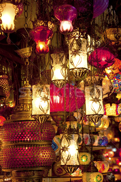 Turkish lamps at Grand Bazaar in Istanbul, Turkey Stock photo © Taiga