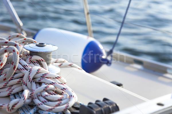 Vitorla csónak közelkép nap óceán kék Stock fotó © Taiga