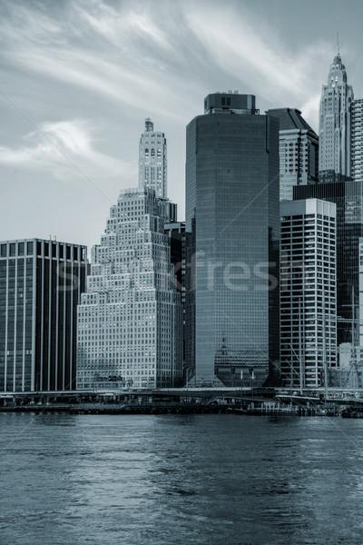 Stockfoto: Kantoorgebouwen · Manhattan · New · York · City · beroemd · mijlpaal · New · York
