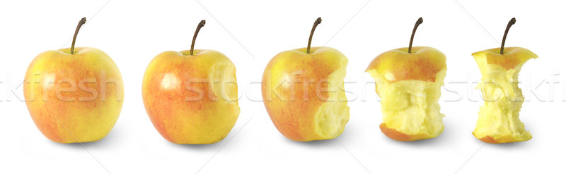 timeline of eating an apple / with clipping paths Stock photo © Taiga