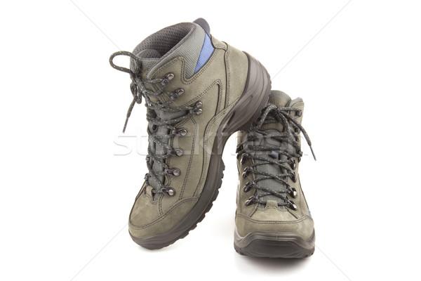 トレッキング 靴 孤立した 白 新しい 極端な ストックフォト © Taiga