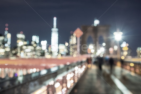 New York City Lights - Brooklyn bridge and Manhattan skyline -  Stock photo © Taiga