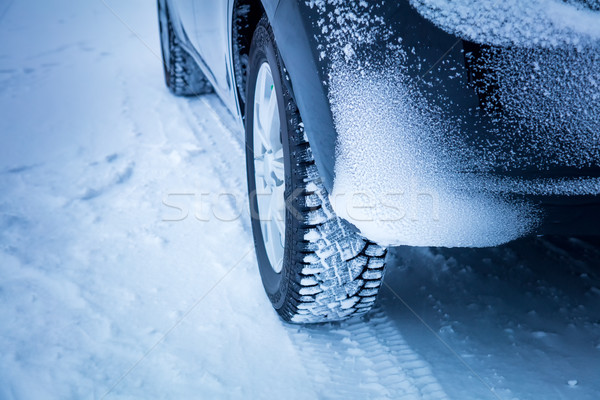 Car's Winter tyres in extreme cold temperature Stock photo © Taiga