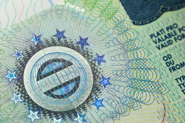 VISA útlevél oldal európai háttér nyomtatott Stock fotó © Taiga