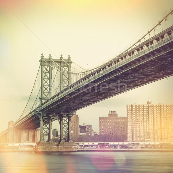 Manhattan Bridge and New York City - vintage style  Stock photo © Taiga