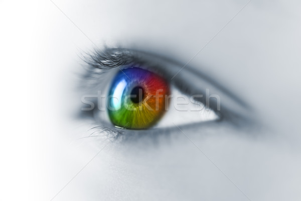 Tarka fiatal szem makró orvosi terv Stock fotó © Taiga