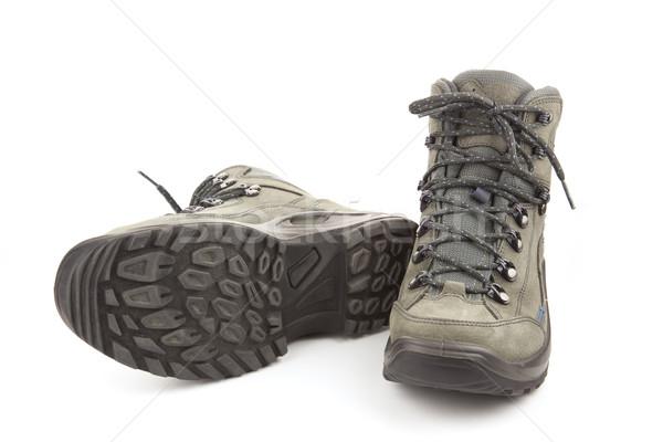 Couple of new trekking shoes isolated Stock photo © Taiga