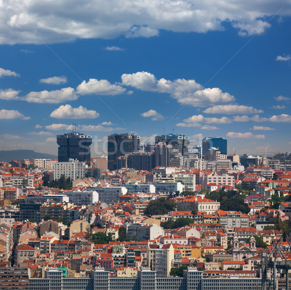New  and Old districts of Lisbon, Portugal Stock photo © Taiga