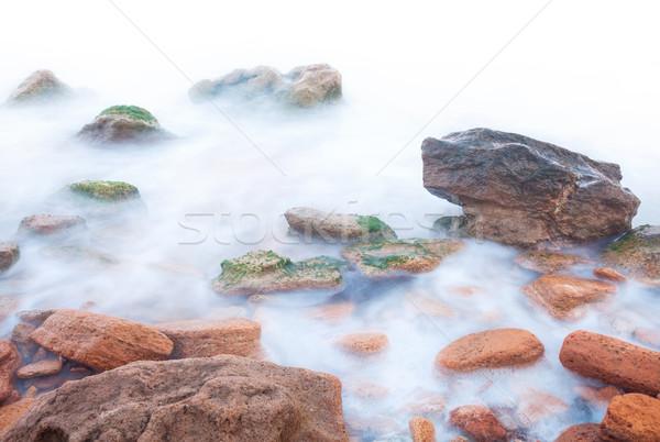 Сток-фото: берега · морем · пород · белый · изолированный