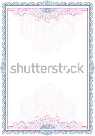 Classic guilloche border for diploma or certificate with gold se Stock photo © Taiga