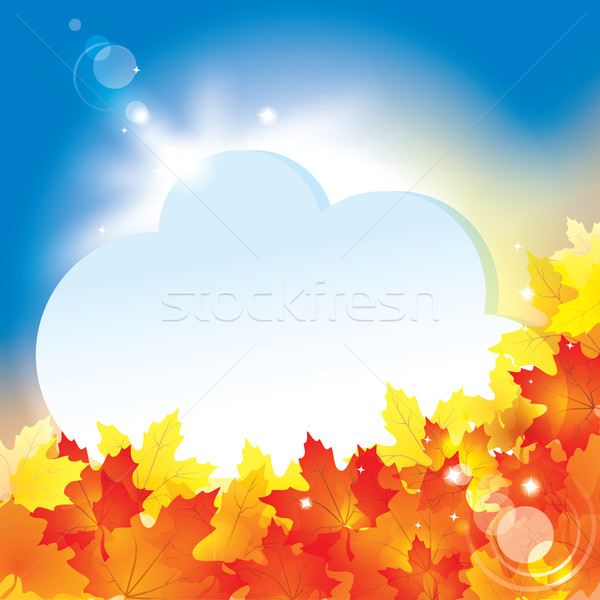 Autumn background with leaves and copy space for your text / eps Stock photo © Taiga