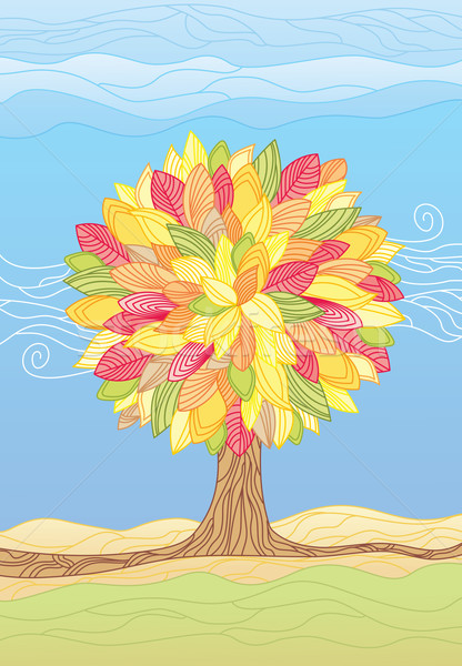 Autumn Tree / vector illustrations Stock photo © Taiga