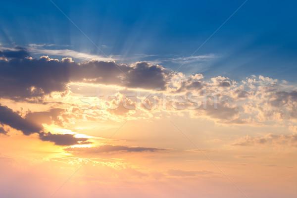 Erstaunlich Sonnenuntergang Himmel wirklich Sonnenstrahlen Sonne Stock foto © Taiga