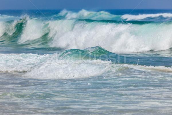 большой бурный океана волны Португалия Европа Сток-фото © Taiga