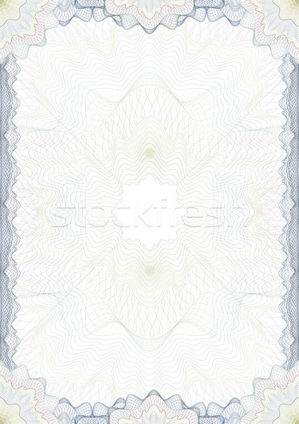 Stock photo: Classic guilloche border for diploma or certificate