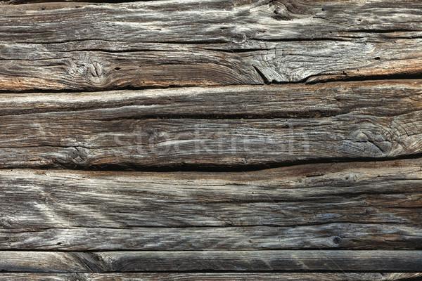 Verweerde natuurlijke houten textuur 100 jaren Stockfoto © Taiga