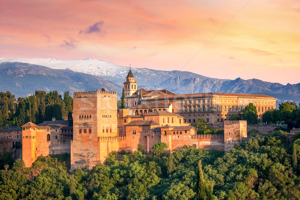 Anciens arabe forteresse alhambra belle Photo stock © Taiga