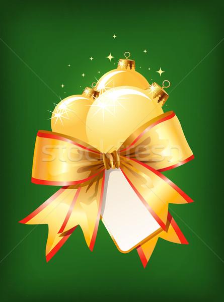 Christmas decoration / bow and balls / vector/ Stock photo © Taiga