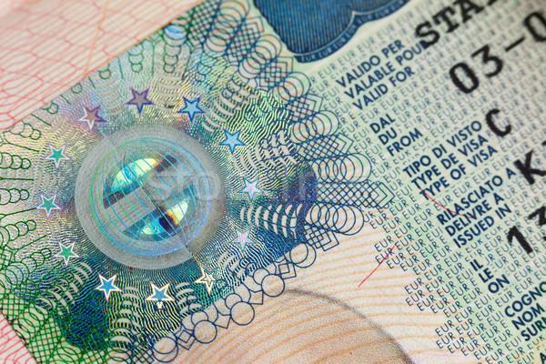 европейский визы паспорта страница бизнеса Сток-фото © Taiga