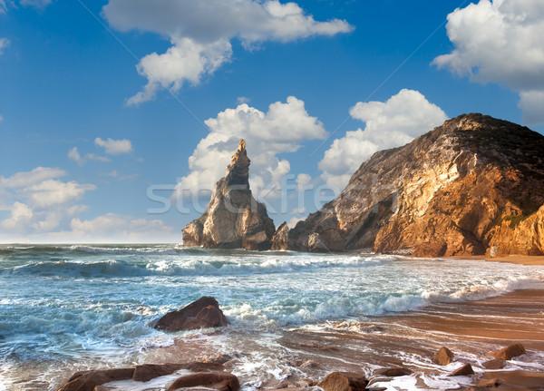 Verão oceano costa fantástico rocha pedras Foto stock © Taiga
