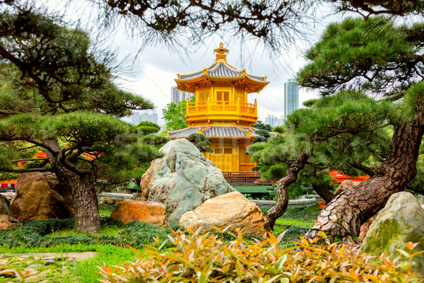 Or Hong-Kong Chine perfectionnement jardin paysage Photo stock © Taiga
