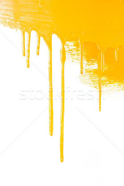 Orange paint  flows / isolated on white background with copy spa Stock photo © Taiga