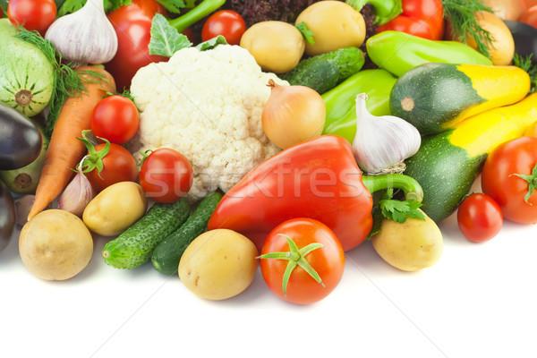 Foto stock: Orgânico · diferente · legumes · branco · cópia · espaço · cozinha