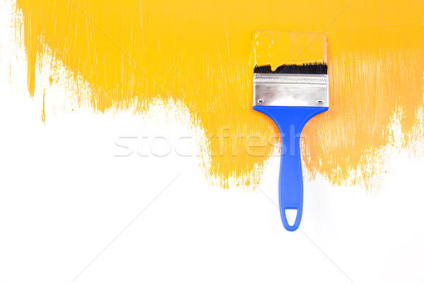 Orande  painted shape with brush / white background / copy space Stock photo © Taiga