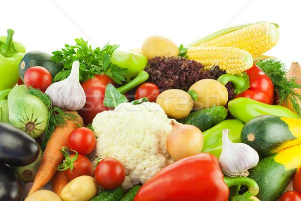 Verschillend groenten groot voedsel witte Stockfoto © Taiga