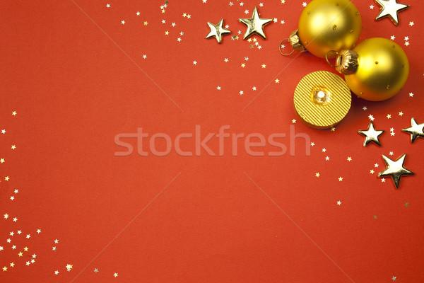 Noël vacances étoiles bougie taille Photo stock © Taiga
